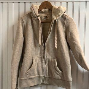 J Crew Vintage Fleece Hoodie in Oatmeal